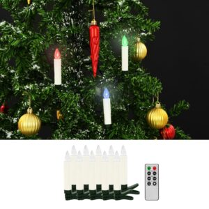 vidaXL Velas LED sem fios de Natal com controlo remoto 10 pcs RGB