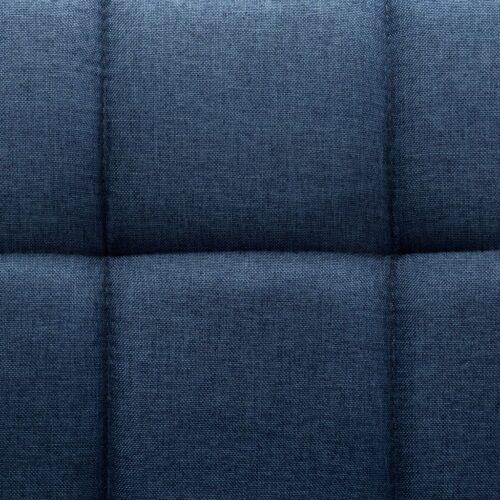 Cadeiras de jantar giratórias 6 pcs tecido azul
