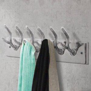 vidaXL Bengaleiro de parede 4 pcs alumínio prateado